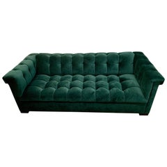 Bespoke Custom British Racing Green Velvet Chesterfield Tufted Sofa