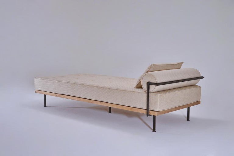 We recently created this daybed for an interior designer's client in New York. They selected their fabric of choice from Jim Thompson as we had suggested, and passed us the code to order.   Model: PTendercool-Sofa-PT75-Indoor-BS3-Trimit Biscuit by