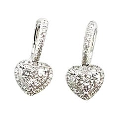 Bespoke Diamond White Gold Heart Earrings