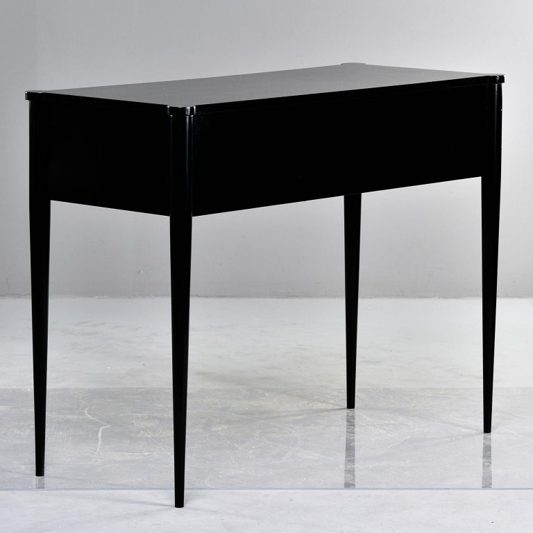 Bespoke Ebonized Console with Vellum Drawers For Sale 4