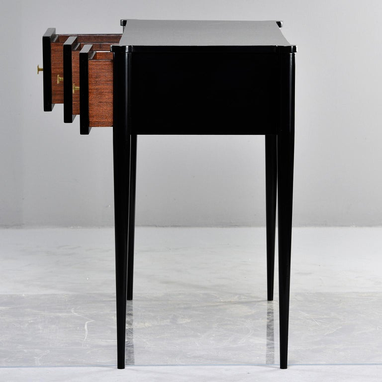 Bespoke Ebonized Console with Vellum Drawers In New Condition For Sale In Troy, MI