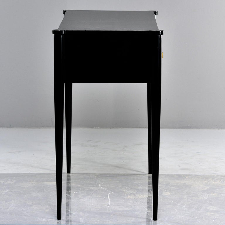 Bespoke Ebonized Console with Vellum Drawers For Sale 2