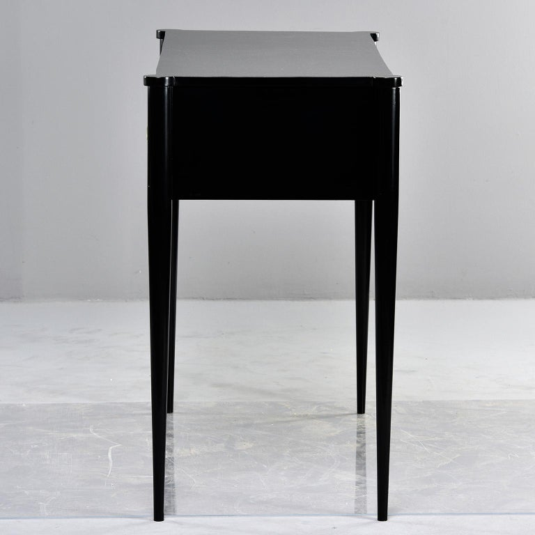 Bespoke Ebonized Console with Vellum Drawers For Sale 3