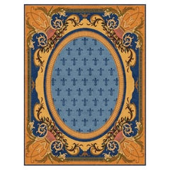 Bespoke Hand Knotted Rug is Style of Neoclassical Spanish Design