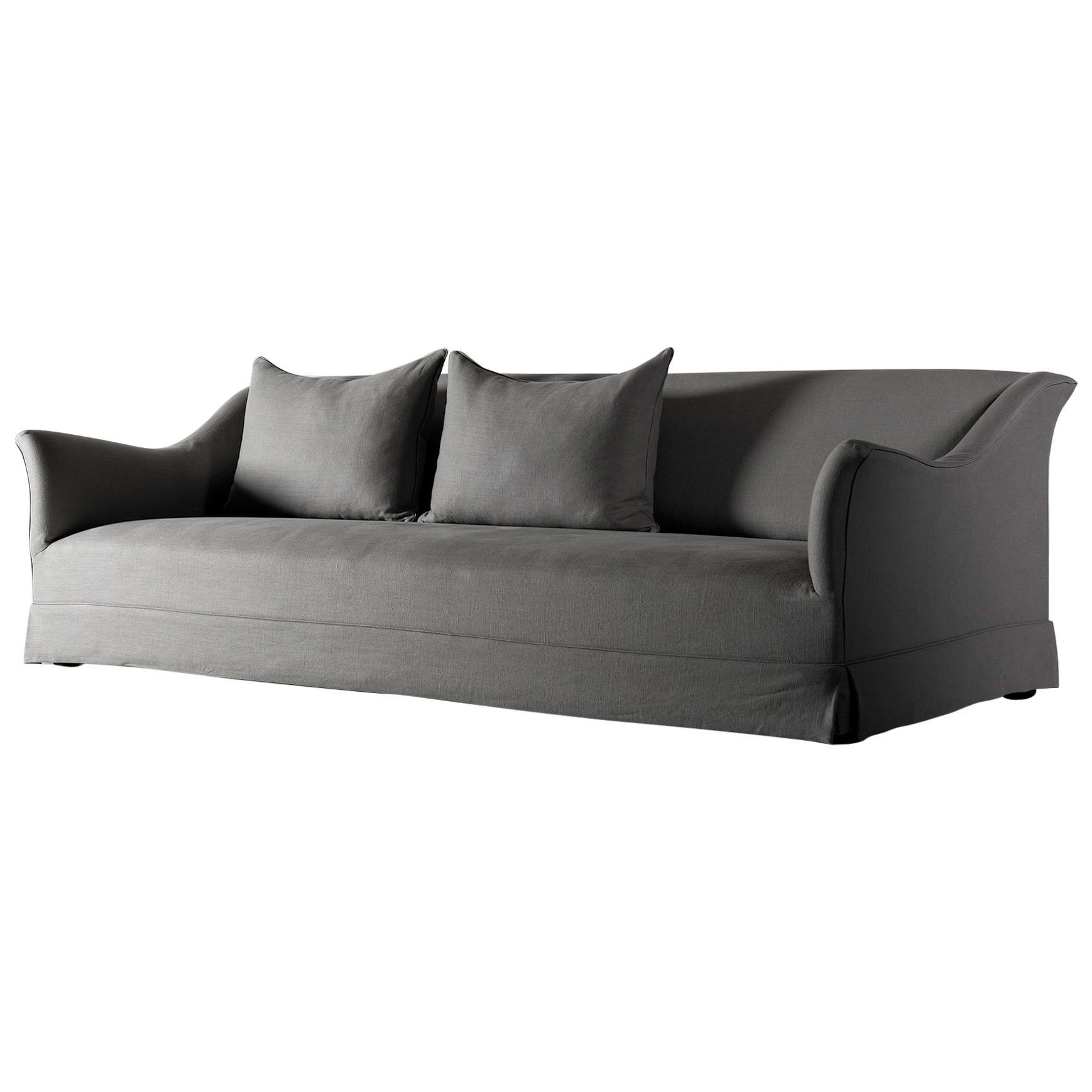 Bespoke Handmade Belgian Linen Sofa