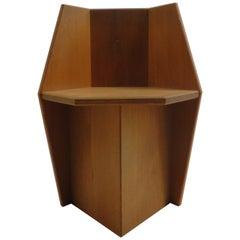 Bespoke Handmade Oak Side Chair by S Feeney, 1980s