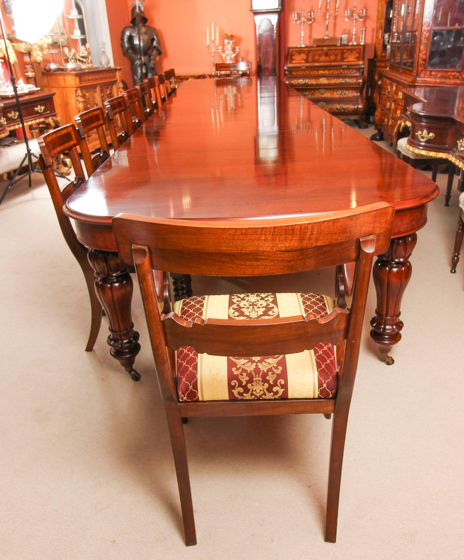 Bespoke Huge Handmade Dining Table And 20 Chairs 21st Century For