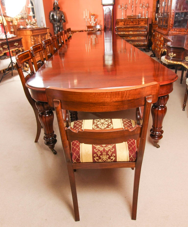 Dining Table Chairs For Sale: Bespoke Huge Handmade Dining Table And 20 Chairs, 21st