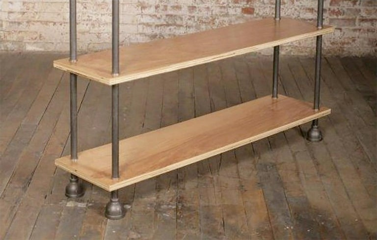 Cast Bespoke Industrial Shelving and Storage Unit or Bookcase For Sale