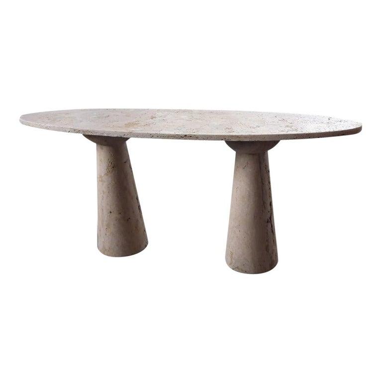 Bespoke Italian Travertine Console Table For Sale
