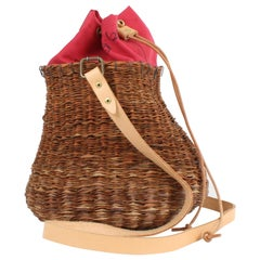 Bespoke Leather and Willow Bark Crossbody Bag - Le Débonnaire