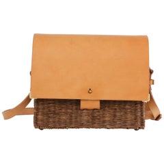 Bespoke Leather and Willow Bark Crossbody Bag - Le Dévoué