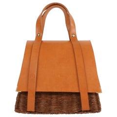 Bespoke Leather and Willow Bark Handbag - Le Précieux