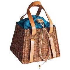 Bespoke Leather and Willow Bark Handbag - L'Olympien