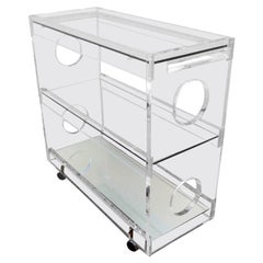 Bespoke Lucite Bar Cart by Iconic Snob Galeries