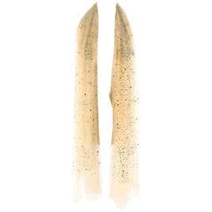 Bespoke Nude Tulle Crystal Embellished Wrap Shawl One size