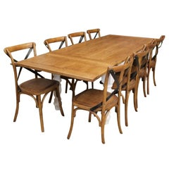Bespoke Oak Top Extending Farmhouse Table, 20th Century