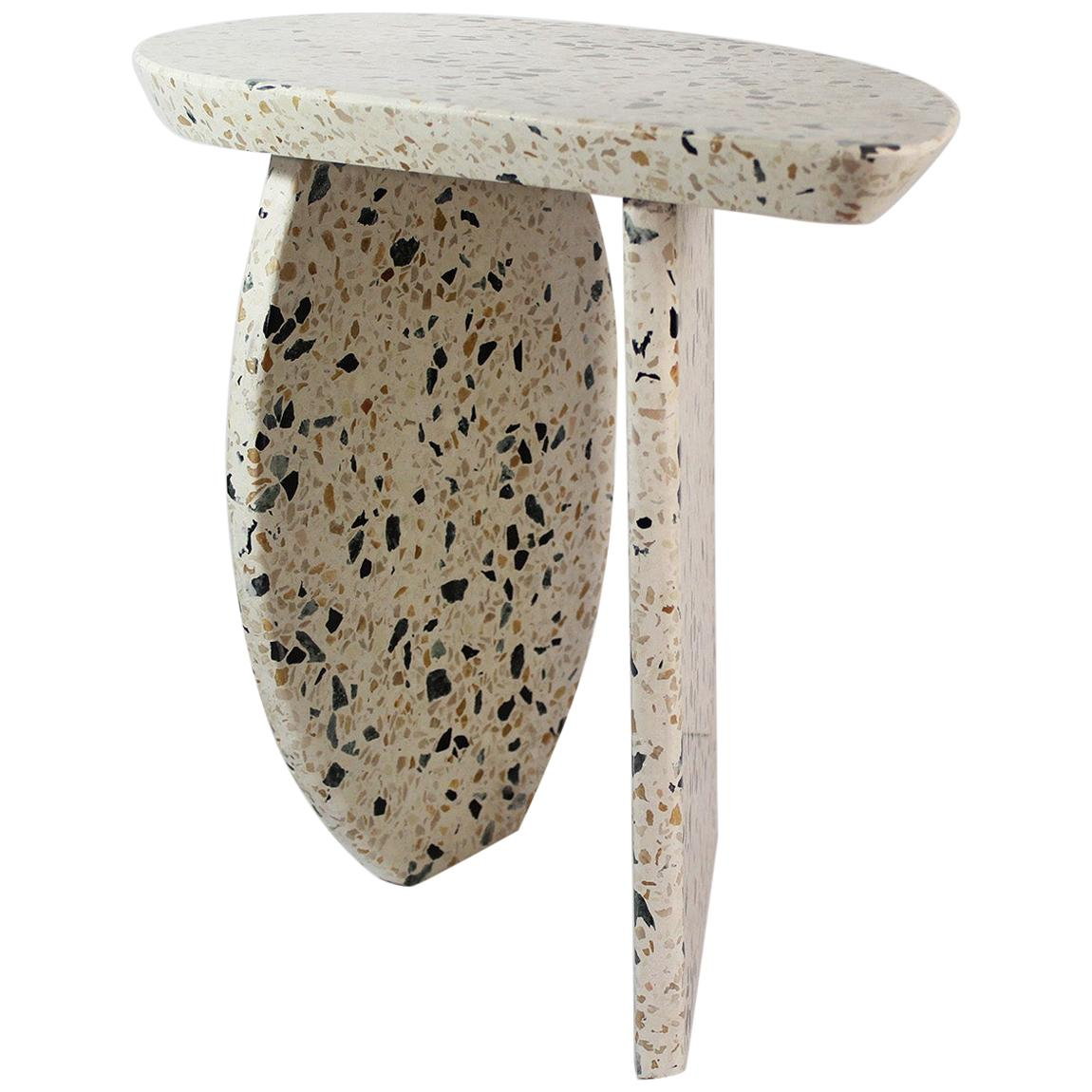 Bespoke Organic Side Table Handmade in Granito Terrazzo in Stock Design E Gizard
