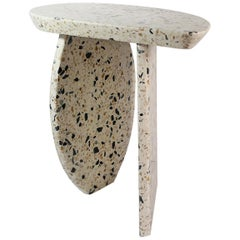 Bespoke Organic Side Table Handmade in Granito Terrazzo in Stock Design E Gizard