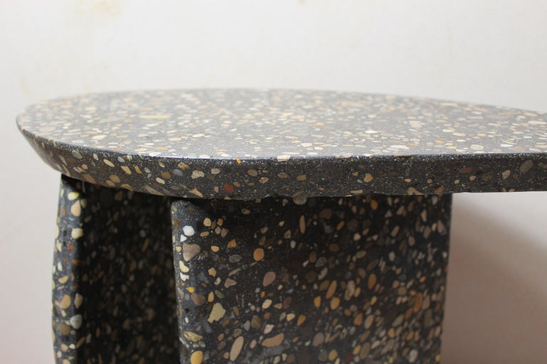Modern Bespoke Organic Side Table Handmade in Granito Terrazzo Made in France For Sale