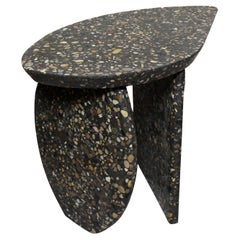 Bespoke Organic Side Table Handmade in Granito Terrazzo Made in France
