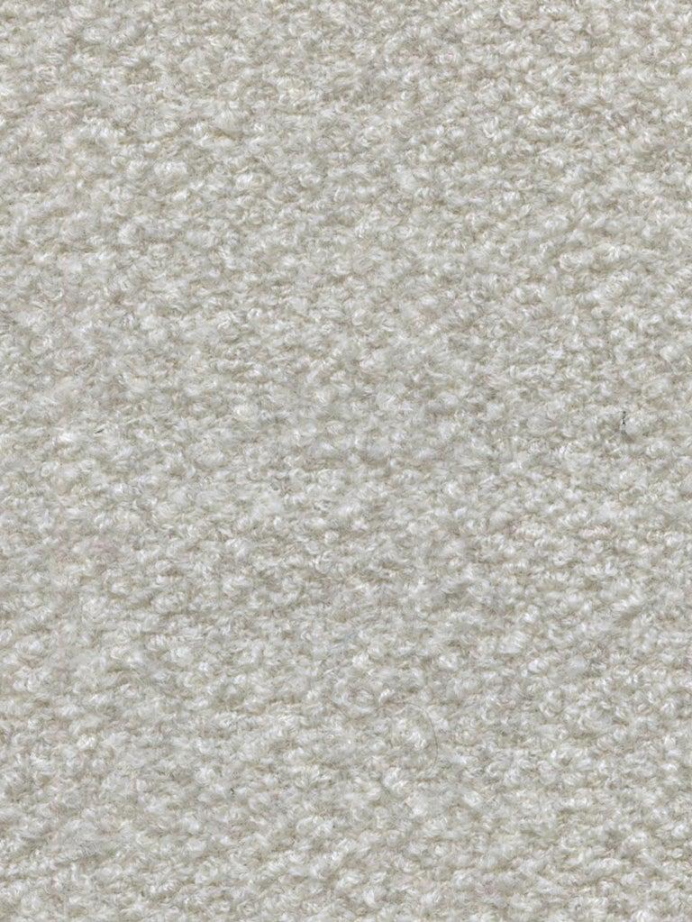 Bespoke Organic Sofa in White, Cream, Brown Wool Handmade in France Customizable For Sale 3