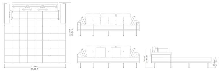 Reclaimed Wood Bespoke Outdoor Lounge Bed in Reclaimed Hardwood & Brass Frame, by P.Tendercool For Sale