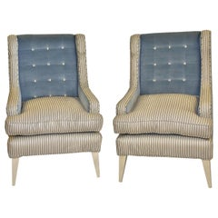 Bespoke Palm Beach Style Club/Wing Chairs