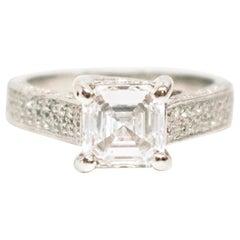 Bespoke Platinum 2.02 Carat (E-VS1) Diamond Ring, Resized to Order
