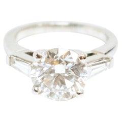 Bespoke Platinum 3 Carat Diamond Ring