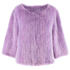 Bespoke Purple Fur Jumper Size M