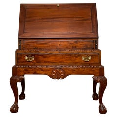 Bespoke Queen Anne Style Mahogany Drop Front Desk on Frame