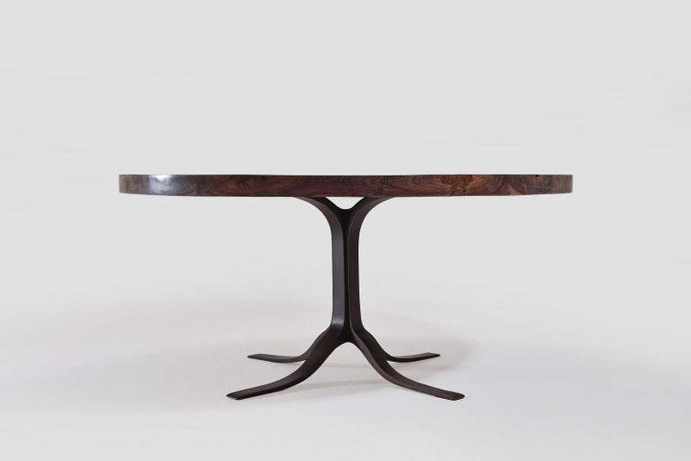 We just created this table for a New York based couple. They fell in love with our work and after a few back and forth messages where we exchanged briefs, screenshots and details of wood, metal, finishes, patterns and dimensions we created this