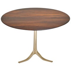 Bespoke Round Table, Reclaimed Hardwood, Bronze Base by P. Tendercool in Stock