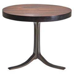 Bespoke, Round Table, Reclaimed Wood, Sand Cast Brass Base, by P. Tendercool