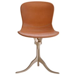 Bespoke Sand Cast Brass Chair in Marron Glacé Leather by P. Tendercool