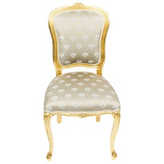 Bespoke Set of Giltwood Dining Chairs in the Louis XVI Style