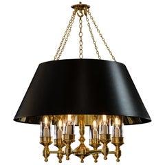Bespoke Six-Branch Brass Bouillotte Style Pendant Light