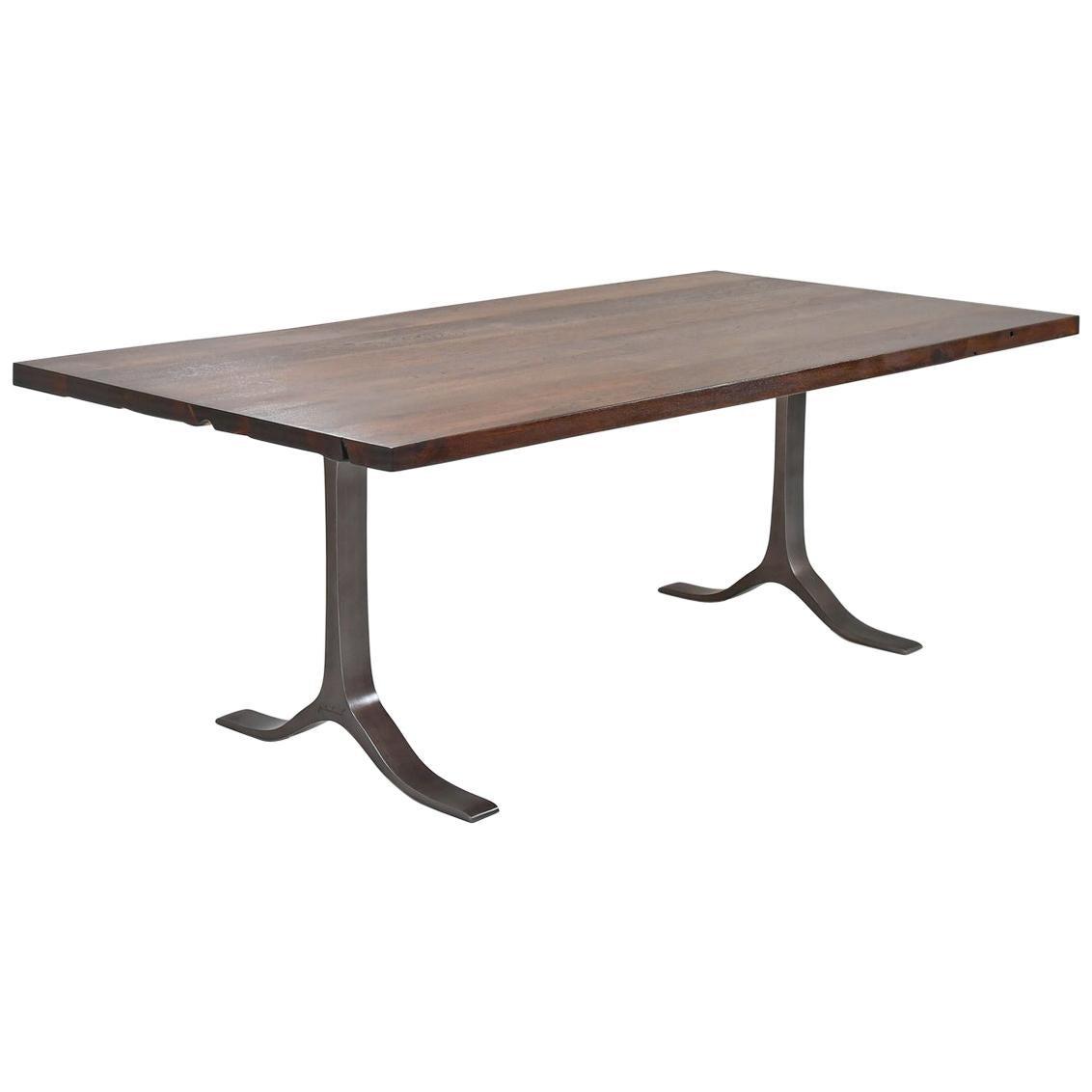 Bespoke Table, Reclaimed Teak wood, Sand cast Aluminum Bases by P. Tendercool