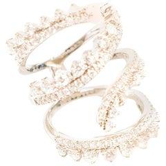 Bespoke White Gold and Diamonds Spiral Ring