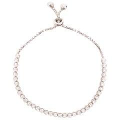 Bespoke White Gold Diamond Bracelet, Adjustable