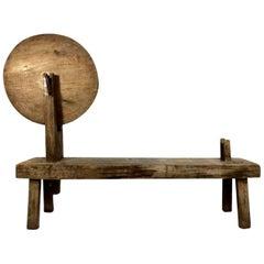 Bespoken Antique Spanish Colonial Weaver's Bench