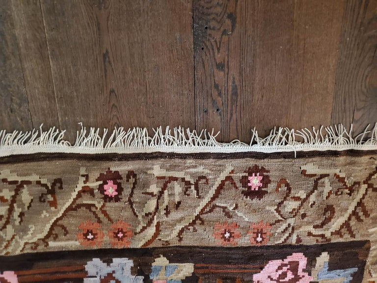 Hand-Woven Bessarabian Design Turkish Rug For Sale