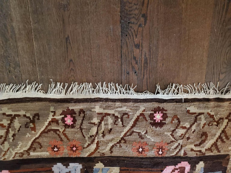 Bessarabian Design Turkish Rug In Excellent Condition For Sale In East Hampton, NY
