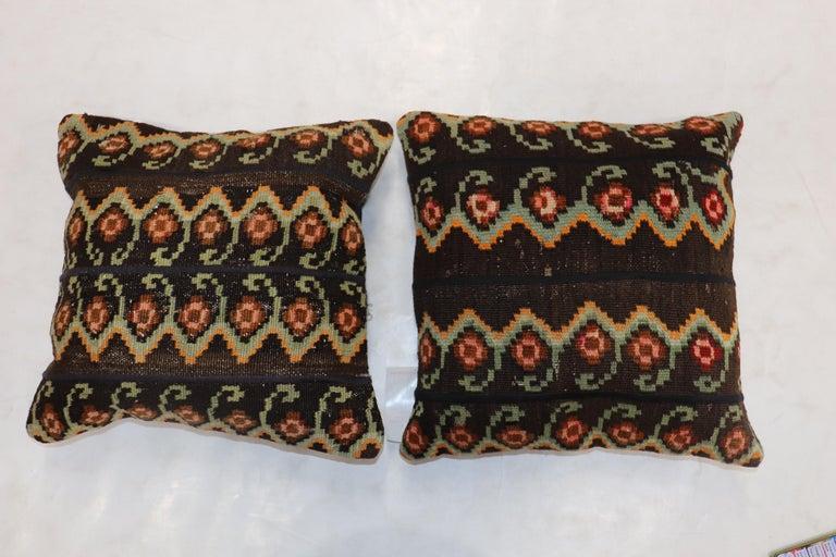 Tribal Besserabian Turkish Kilim Pillows For Sale