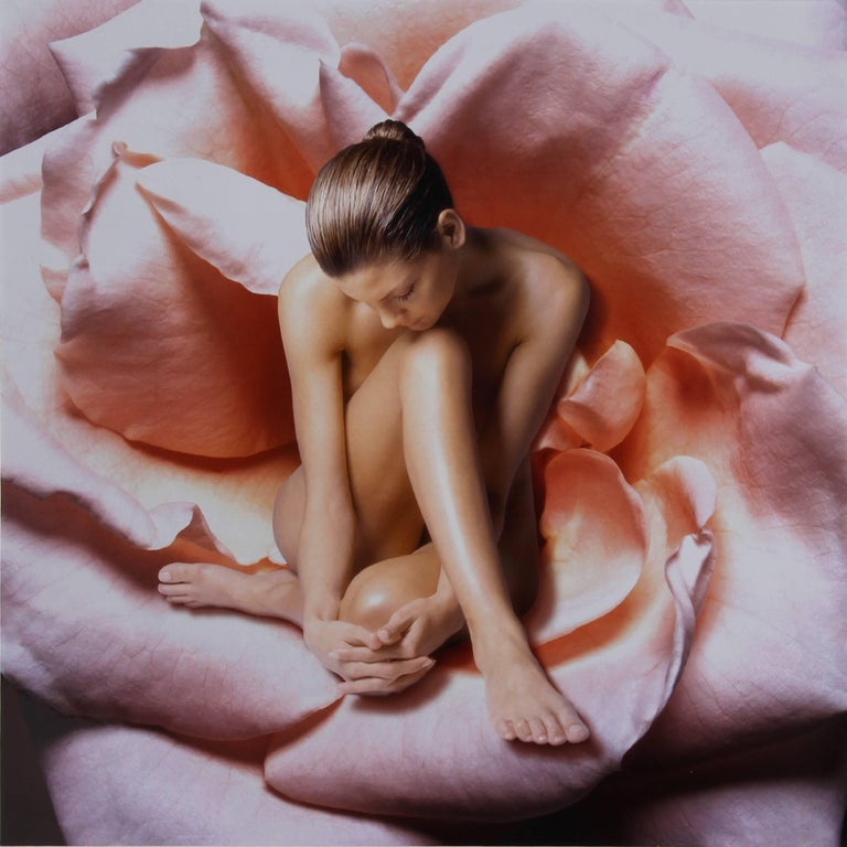 Beth Ava Nude Photograph - Nude Woman in Rose