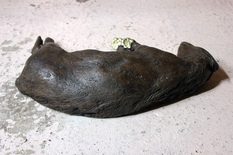 Beth Carter, Badger, Bronze Resin and Gilded Paws, 2010, Edition 2 of 15 For Sale 11