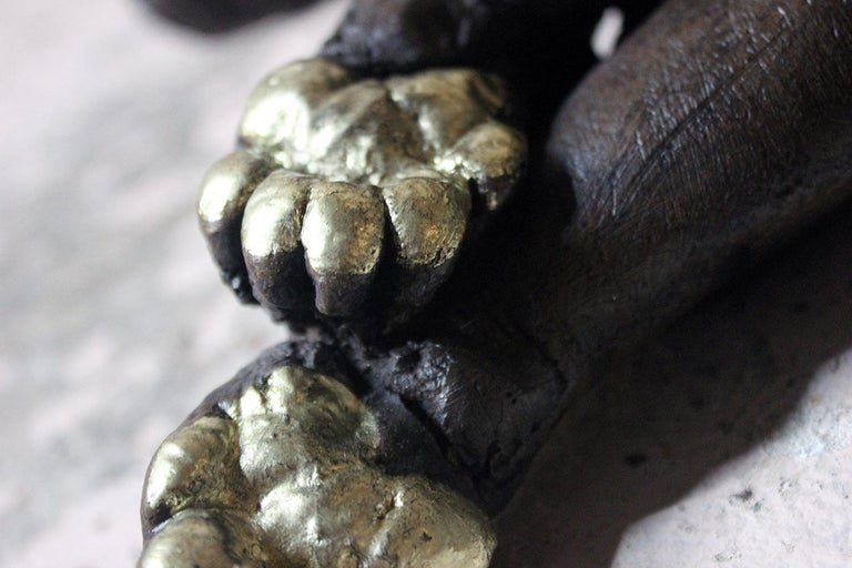 Beth Carter, Badger, Bronze Resin and Gilded Paws, 2010, Edition 2 of 15 For Sale 2