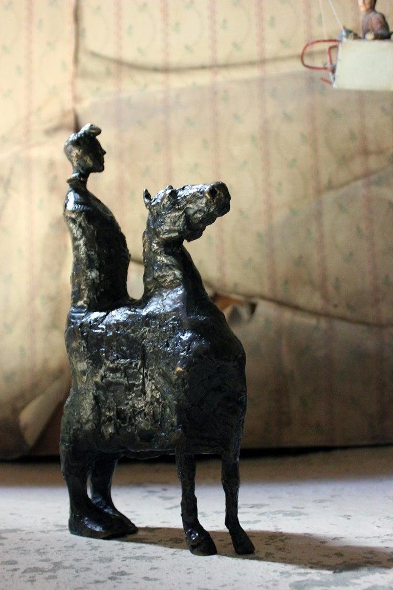 Beth Carter; Pantomime; Bronze; Ap; Unique; circa 1996 For Sale 4