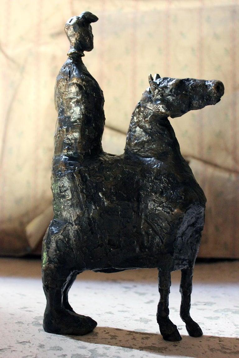 Beth Carter; Pantomime; Bronze; Ap; Unique; circa 1996 For Sale 5